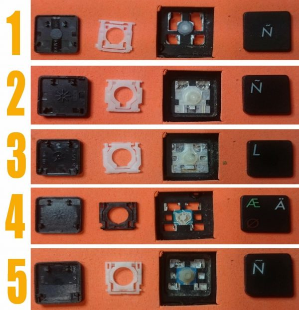 TECLA TECLAS TECLADO ASUS F550LB F550LC F550VC ASUS X54 X54C X54L X54XI X54XB