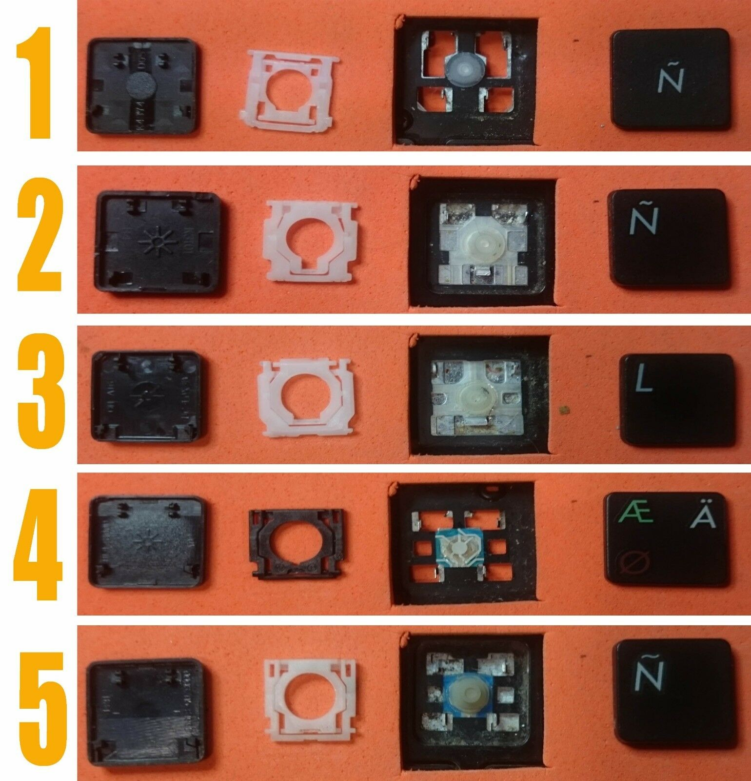 TECLA TECLAS DE TECLADO ASUS F55A F55C F55VD X7BJ X55U X55VD X55A X55 X55C K53S